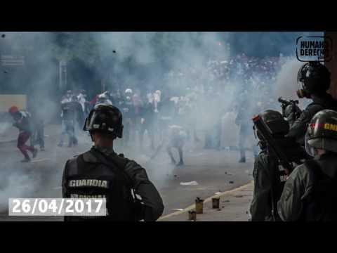 ong publica video en el que se demuestra empleo indiscriminado de bombas lacrimogenas en venezuela