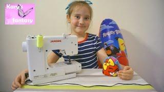 Детская швейная машинка JANOME Sew Mini Delux Шьем  Angry Birds Kids machine JANOME(, 2016-08-11T11:42:34.000Z)