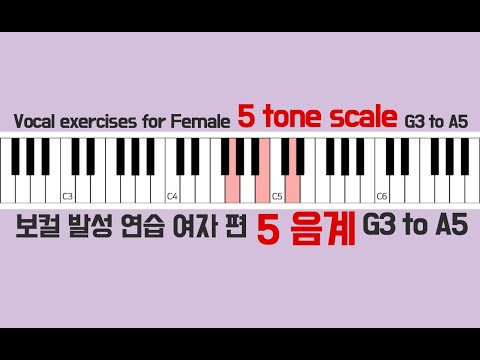 vocal-warm-up-exercises-female-piano-scale-5tone-/-보컬-발성연습-피아노-스케일-5음계-여자편