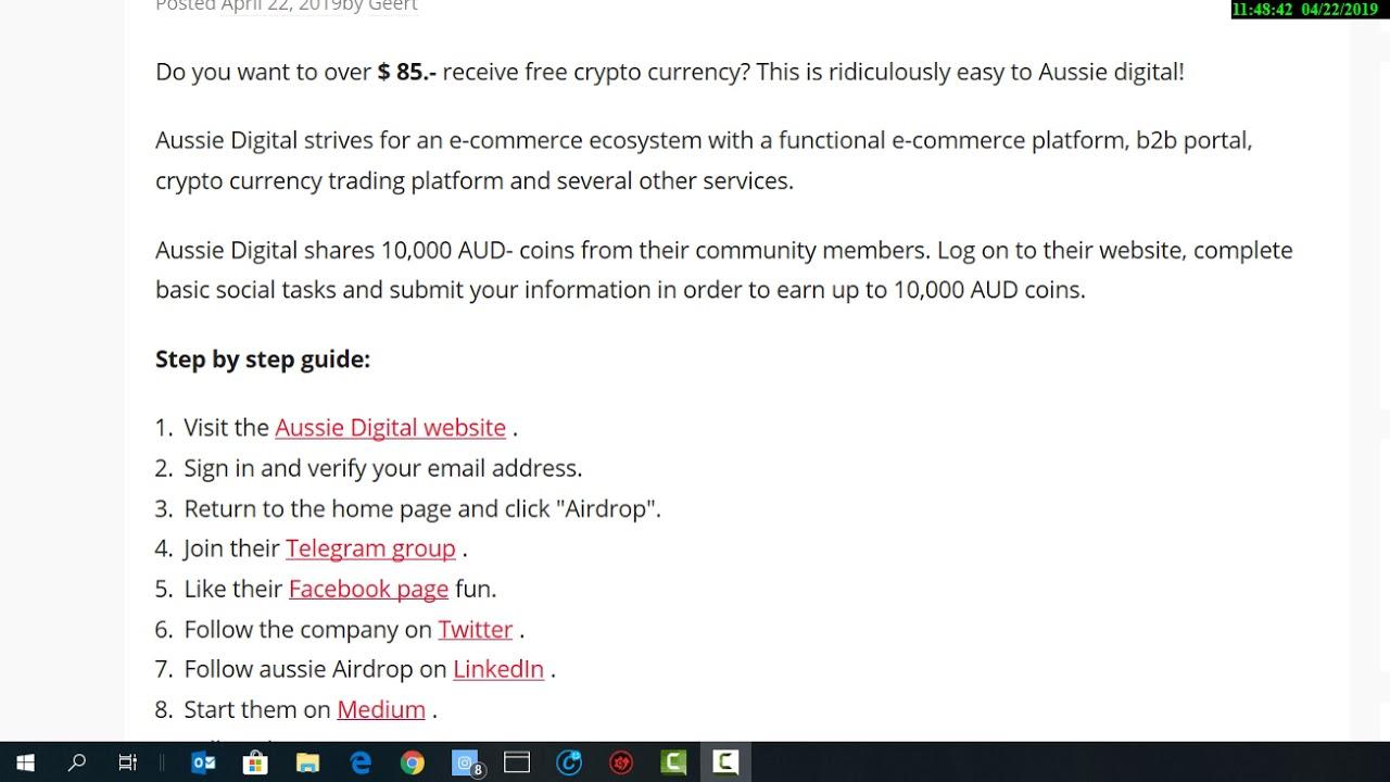 Aussie Digital , free crypto