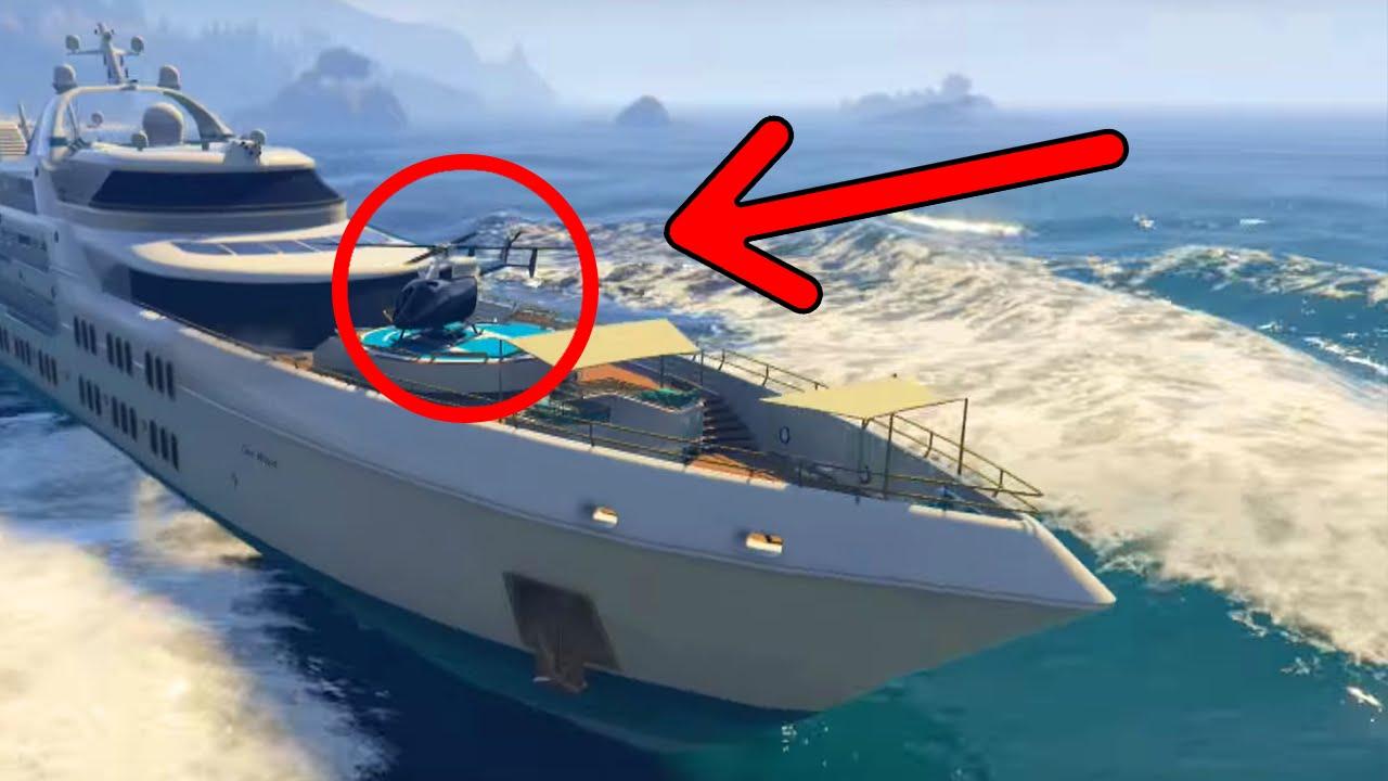 GTA 5 Online Drive The Super Yacht Secret Cars Amp More