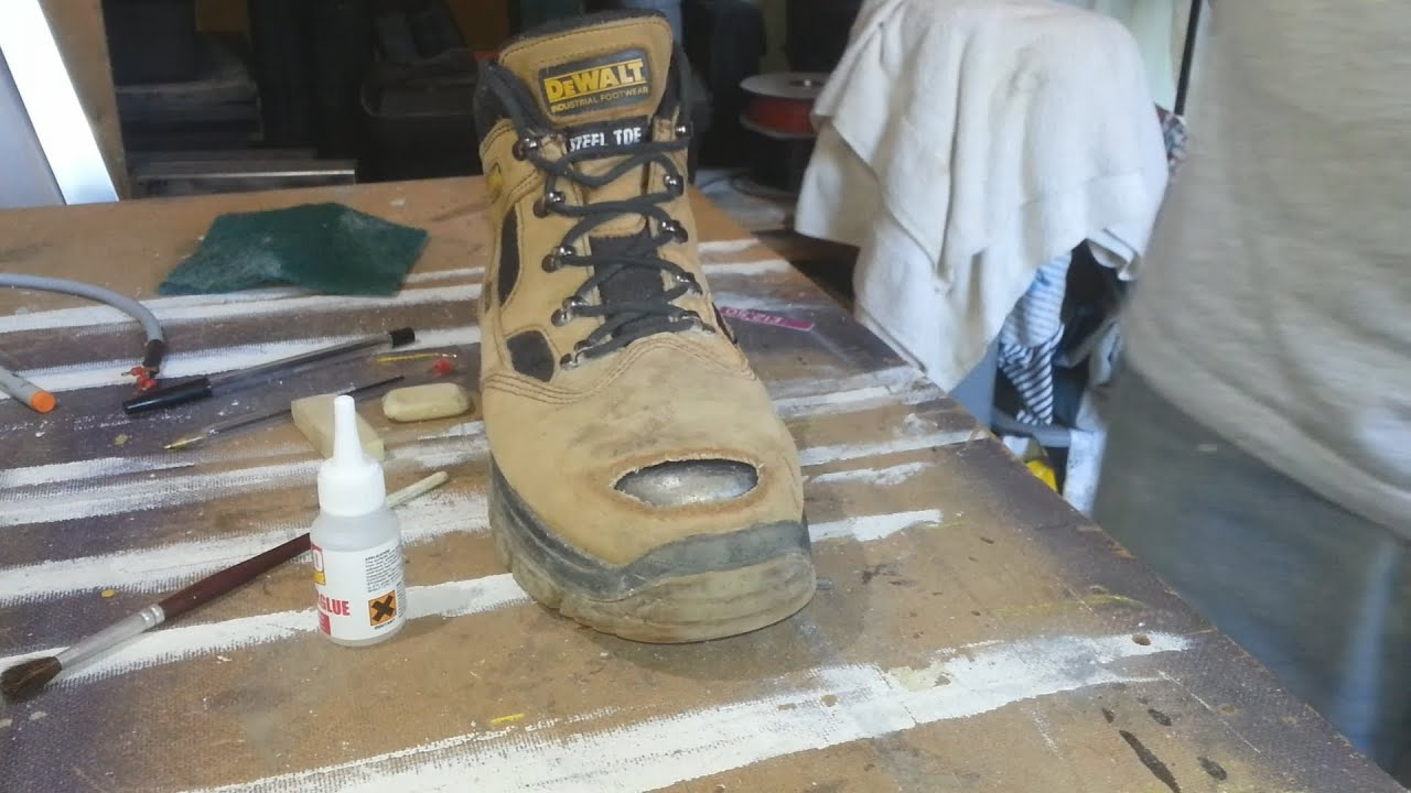 Repairing Rubber Boots With Shoe Goo