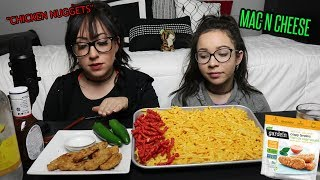 MAC AND CHEESE, CHICKEN NUGGETS, FLAMIN HOT CHEETOS | EATING SHOW