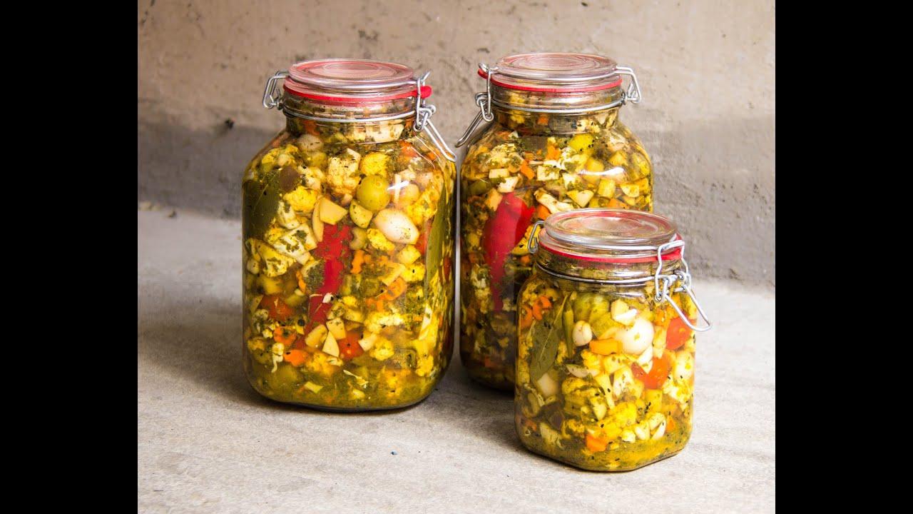 طرز تهیه ترشی کرفس ترشی مخلوط Mixed Vegetable Pickles - YouTube
