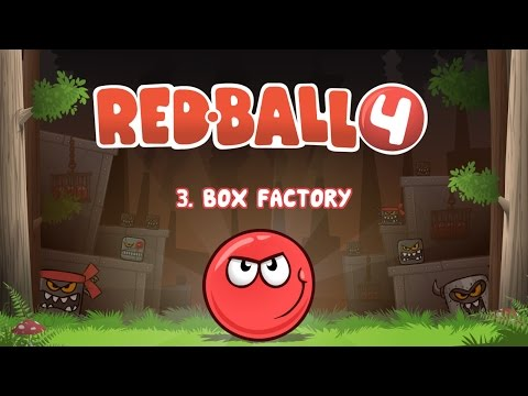 RED BALL 4 - chapter 3 - Box Factory all levels 31-45 + 3rd BOSS battle