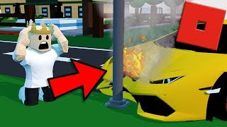 CRASHING MY $1,000,000 SUPERCAR | Roblox - Vehicle Simulator