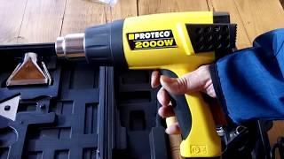 Horkovzdušná pistole Proteco 2000W