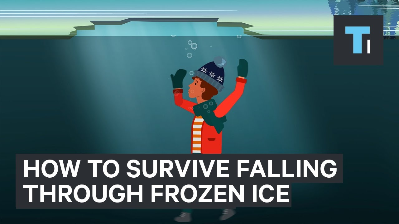 how to survive a fall through frozen ice youtube
