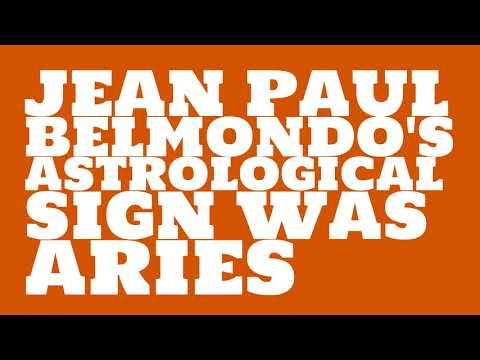 What was Jean Paul Belmondo's astrological sign?