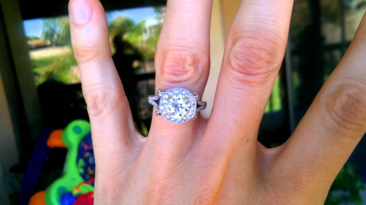 David Klass custom diamond oec ring - YouTube