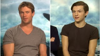 Tom Holland and Chris Hemsworth on which cast member they'd eat first!