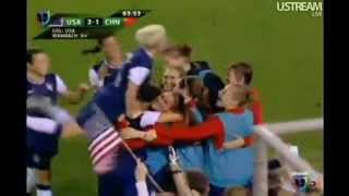Abby Wambach, Alex Morgan:Excited commentator,Goal and Record.