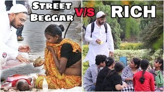 Asking Food For Ramzan | Street Beggar v/s Rich | Social Experiment in India | Funky Tv|