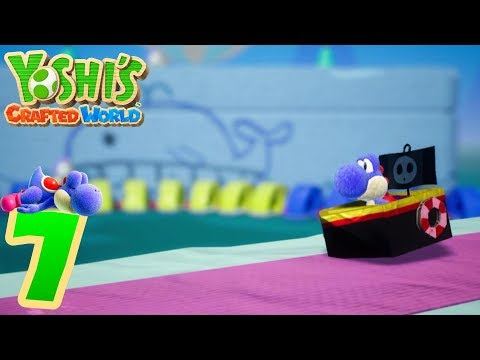 Yoshi's Crafted World [7] - Blue Yoshi Finds a Dream Gem in Chilly-Hot Isles