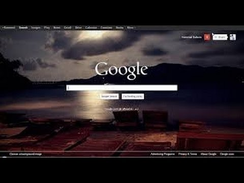 How to Change Your chrome browser and Your desktop Background for