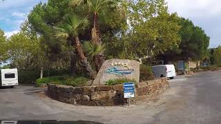 Drive from le Lavandou to Camping du Domaine