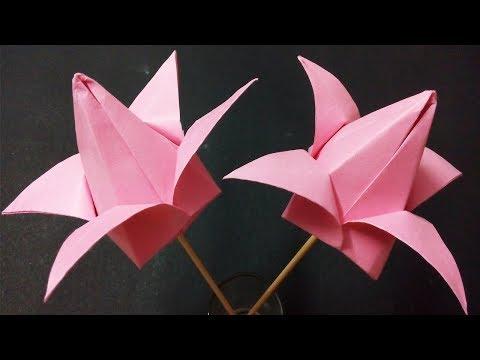 DIY Origami Tulips - Easy Paper Tulip Origami Flower