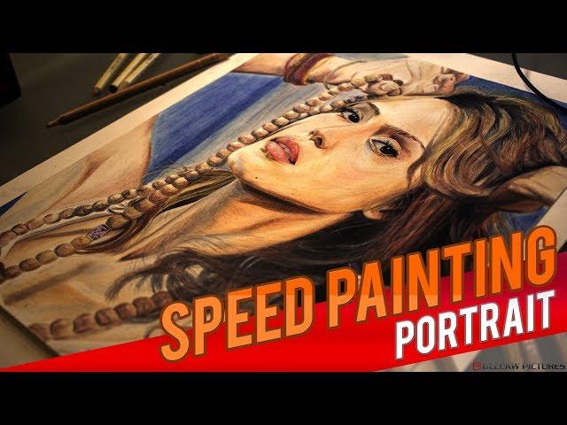 Drawing Jessica Alba [Speed painting]