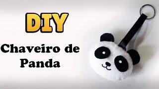 DIY: COMO FAZER CHAVEIRO DE PANDA em Feltro - Kawaii | #diycute