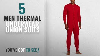 Top 10 Men Thermal Underwear - Union Suits [2018]: Duofold Men's Mid Weight Double Layer Thermal