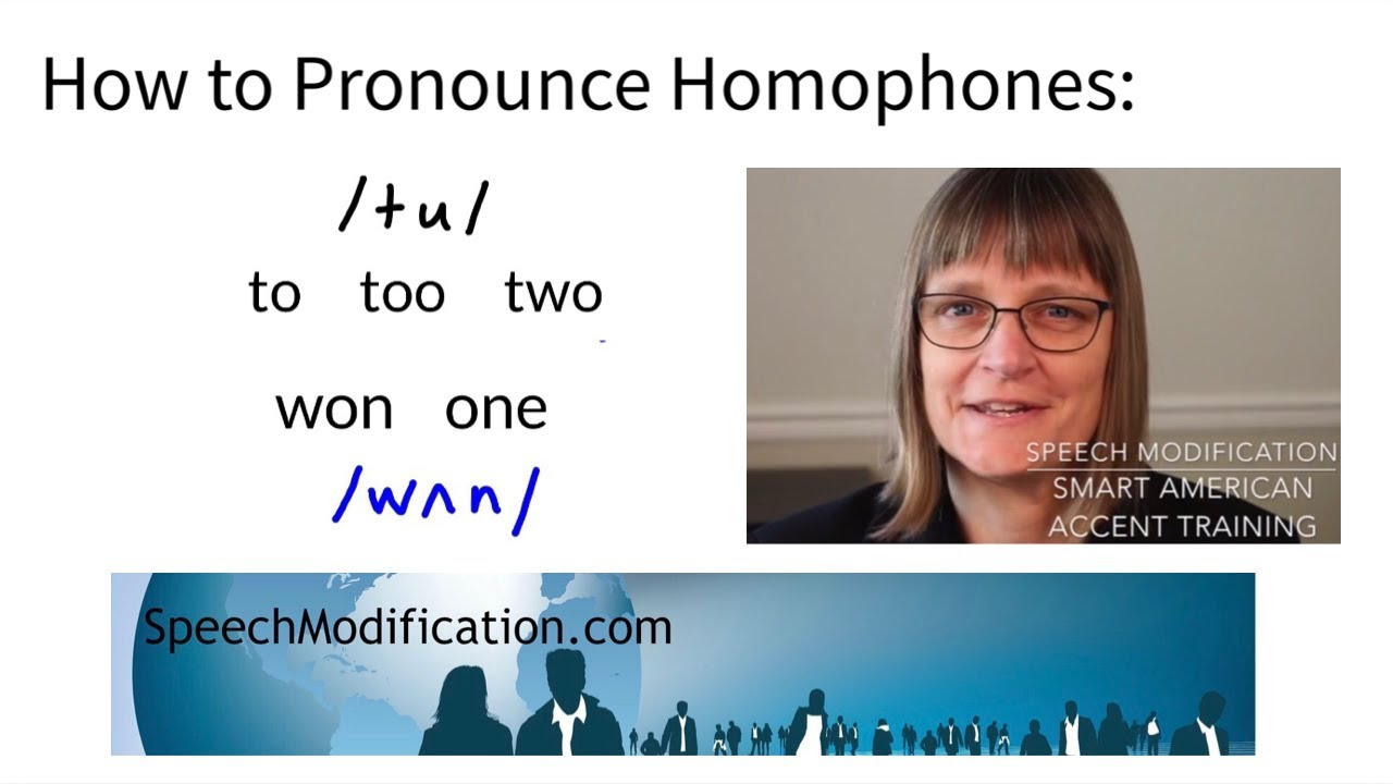 How to Pronounce One/Won & Two/To/Too: Homophones