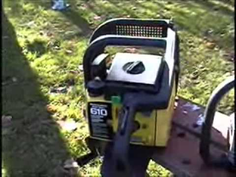 inspection of a mcculloch promac 610 chainsaw 0001 youtube. Black Bedroom Furniture Sets. Home Design Ideas