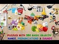 384 Puzzles for Preschool Kids - Children Learn Animals and Food | Kids Puzzles Games | Kid Games