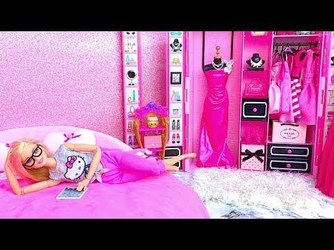 💖Barbie Kamar Tidur💖Dua Saudara Perempuan Barbie Rutinitas Pagi Hari💖Tarian Bola Rumah Miniatur