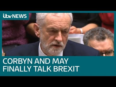 Theresa May and Jeremy Corbyn sit down to talk about Brexit | ITV News