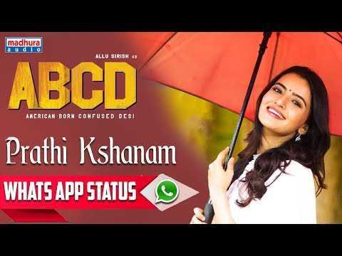 Prathi Kshanam whatsapp Status | ABCD Movie Songs | Allu