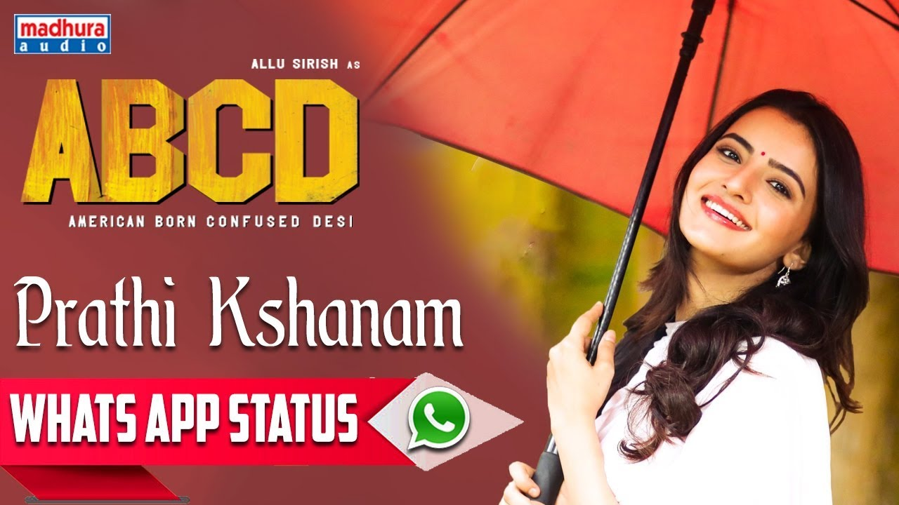 Prathi  Kshanam whatsapp Status | ABCD Movie Songs | Allu Sirish | Rukshar Dhillon | Sid Sriram