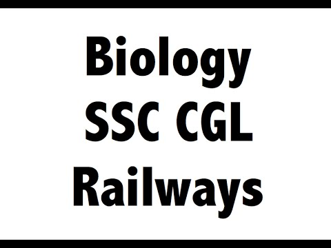 Expected Biology / Science MCQ for SSC CGL / RAILWAYS Part 2