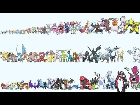 Pokemon From Smallest To Biggest Size Comparison By Types