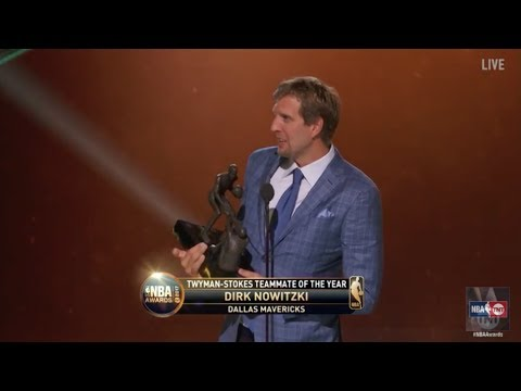 Dirk Nowitzki is Named the 2017 Twyman-Stokes Teammate of the Year | NBA on TNT