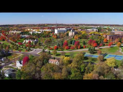 Sun & Fall Colors on Gustavus Adolphus College Campus, St. Peter, MN