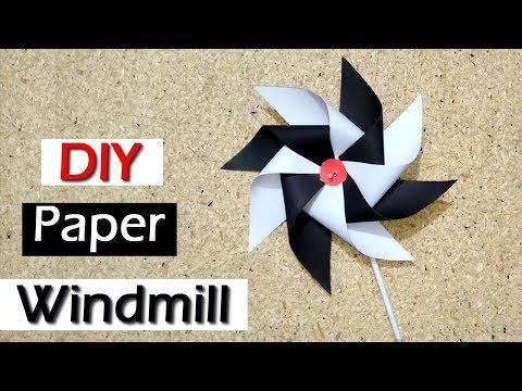 How to Make Paper Windmill | pinwheel | DIY