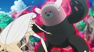 Bewear vs Pheromosa Pokemon Sun and Moon Episode 114  English Dub