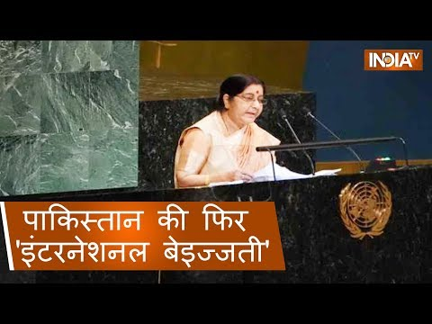 UNGA: Sushma Swaraj slams Pakistan on international forum