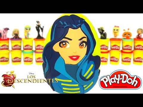 Huevo Sorpresa Gigante de Descendientes de Evie en Español Plastilina Play Doh