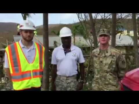 First Operation Blue Roof Installation in the US Virgin Islands