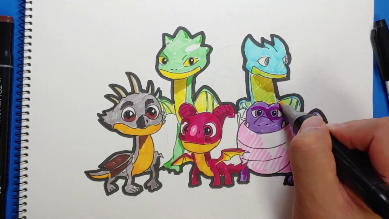 Drawing How To Train Your Dragon : Rescue Riders   새로운 시리즈 ...