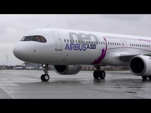 First Flight Airbus A321LR (Long Range) Hamburg 31 January 2018 - Unravel Travel TV