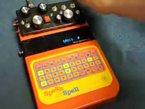 circuit bent speak and spell vintage glitch synth w lfo spoogit rh youtube com