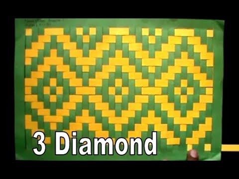 Kreative Anyaman 3 Diamond Bahan Kertas