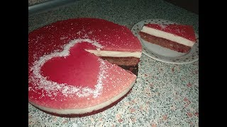 Желейно-бисквитный торт. Jelly-biscuit cake. ПРОСТОЙ РЕЦЕПТ