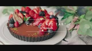 イチゴとオレオの生チョコタルト