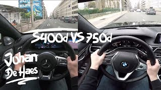 2018 Mercedes S400d VS BMW 750d xDrive POV test drive