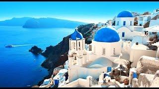 SANTORINI - La bella isla griega en azul y blanco