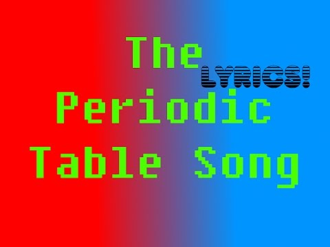 Songchord lirik the periodic table song music video mp3 free the periodic table song by asapscience lyrics mp3 urtaz Choice Image