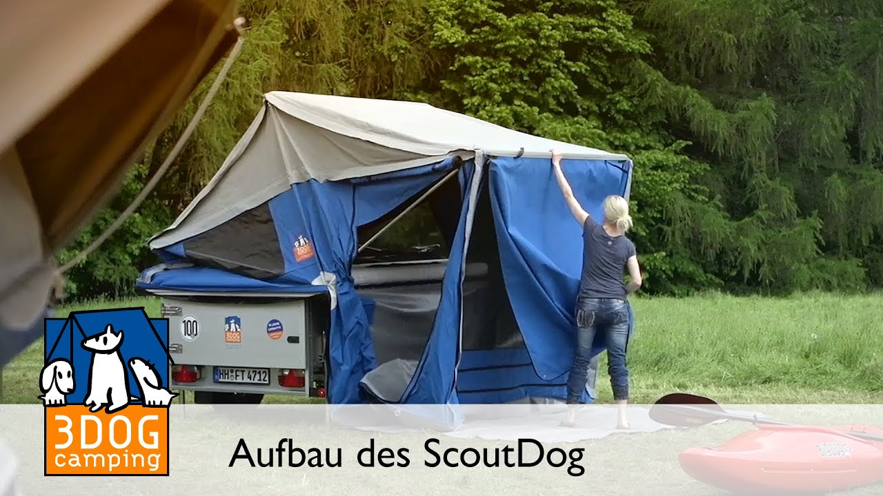 3dog camping scoutdog aufbau zeltanh nger klappcaravan. Black Bedroom Furniture Sets. Home Design Ideas